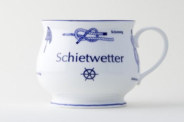 Kapitänsbecher bauchig Knoten - Schietwetter - 73391