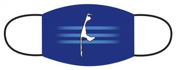 Mund- Nasen Bedeckung - Insel Sylt Blau