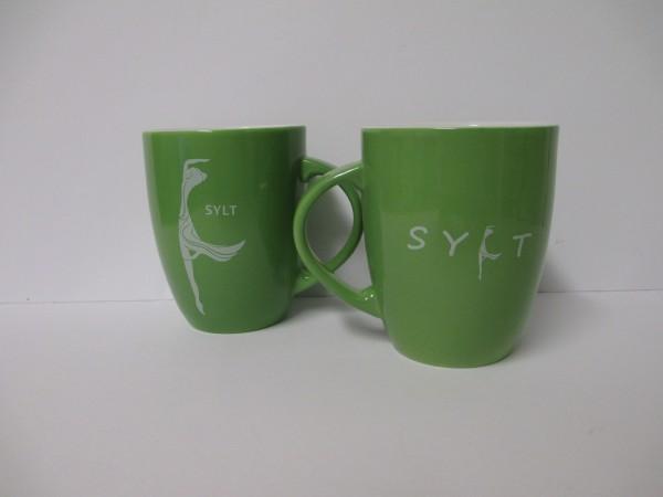 Becher Frauensilhouette - Grün