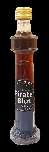 Piraten Blut - Leuchtturmflasche