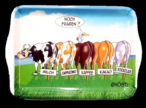 5 Kühe auf der Wiese - Tablett HÖSTI