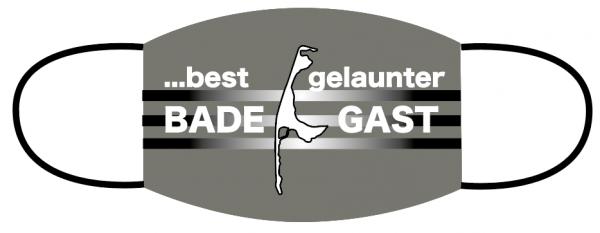 Mund- Nasen Bedeckung - Best gelaunter Badegast..