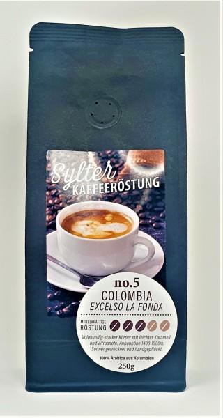 Sylter Kaffeeröstung No. 5 - Colombia Excelso la Fonda