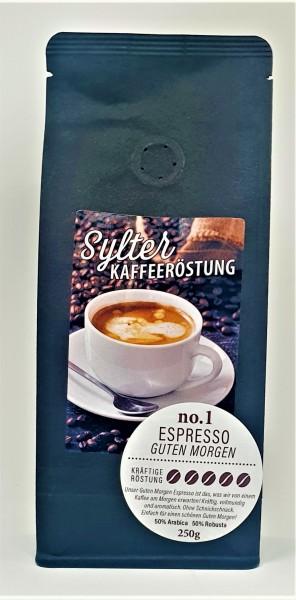 Sylter Kaffeeröstung No. 1 - Espresso Guten Morgen